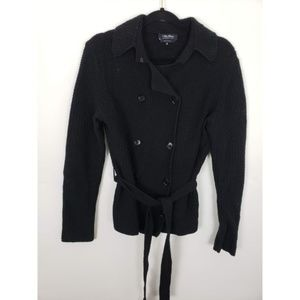 Max Mara Wool Cashmere Double Breasted Cardigan